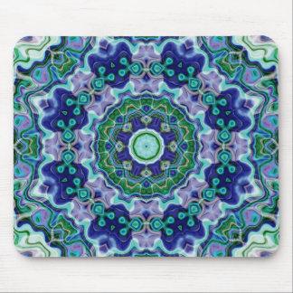 Azules abstractos y verdes Mousepad Tapete De Ratón