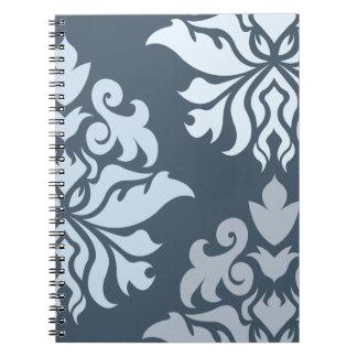 Azules adornados B del montaje II del damasco Cuaderno