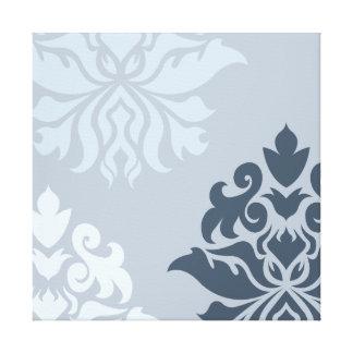 Azules adornados del montaje del damasco I Impresiones En Lona Estiradas