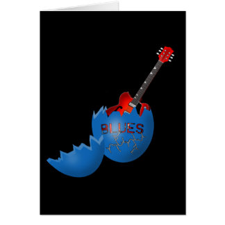 Azules al rock-and-roll tarjeta de felicitación