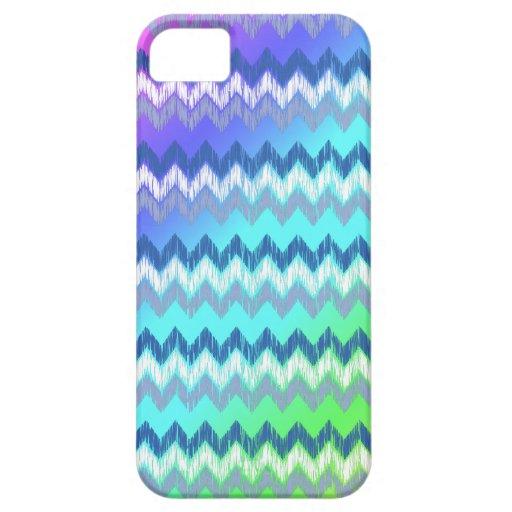 Azules aztecas tribales elegantes del modelo de zi iPhone 5 Case-Mate carcasas