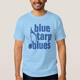 Azules azules de la lona playera