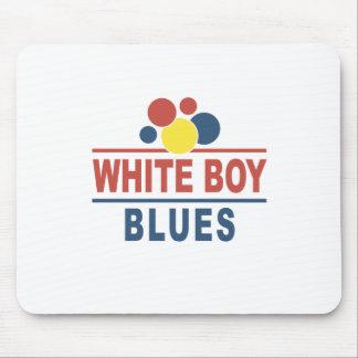 Azules blancos del muchacho tapetes de raton