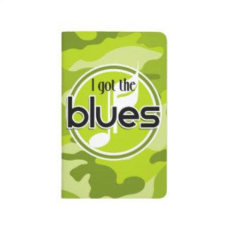 Azules; camo verde claro, camuflaje cuaderno