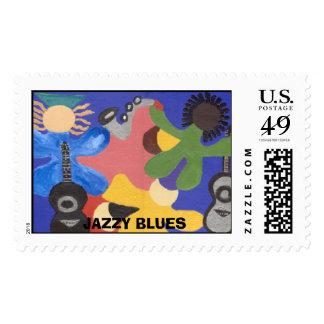 Azules chillones, AZULES CHILLONES Sello Postal