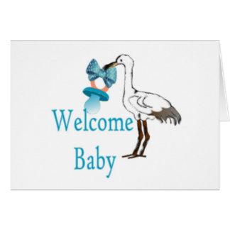 Azules cielos agradables tarjeta de felicitación