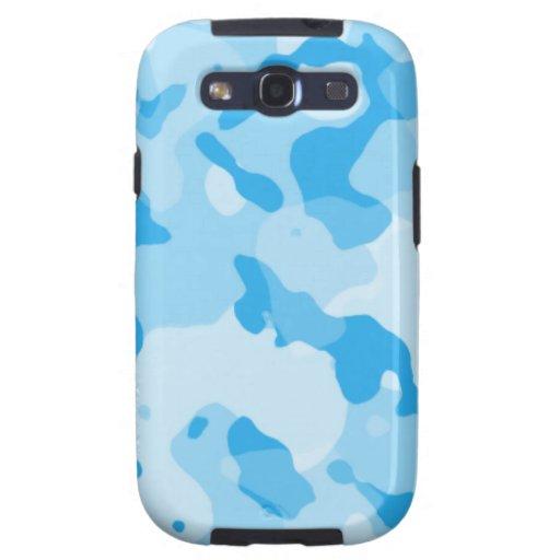 Azules cielos Camo; Camuflaje Samsung Galaxy S3 Cárcasas