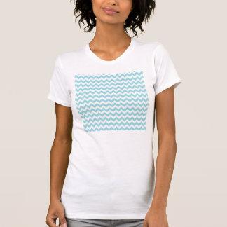 Azules cielos Chevron Camisetas