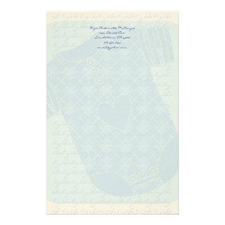 Azules cielos de Argyle Onsie del traqueteo del Papeleria De Diseño