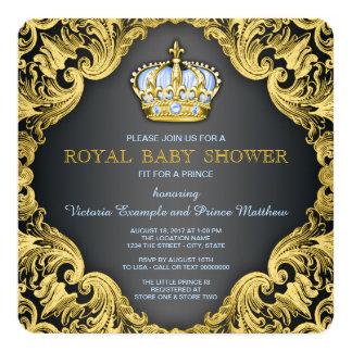 Azules cielos de lujo del príncipe fiesta de invitación 13,3 cm x 13,3cm