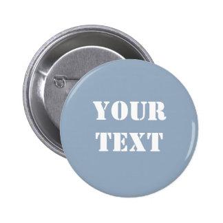 Azules cielos del botón de la plantilla del texto pins