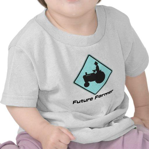 Azules cielos futuros del granjero camisetas