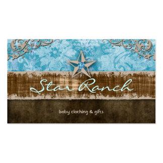 Azules cielos H de la tarjeta de visita del ante