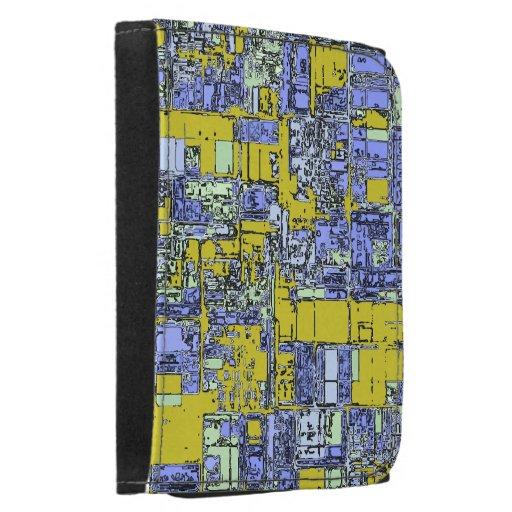 Azules cielos industriales con la cartera abstract
