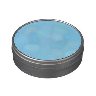 Azules cielos latas de caramelos