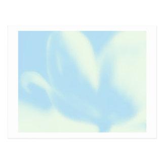 Azules cielos, tulipán de la MOD, plantilla de la  Tarjetas Postales