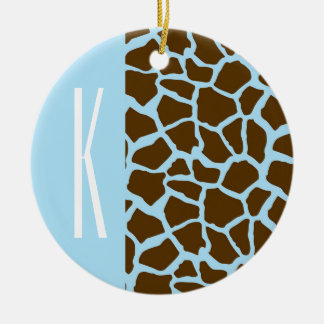 Azules cielos y estampado de animales de la jirafa adorno para reyes