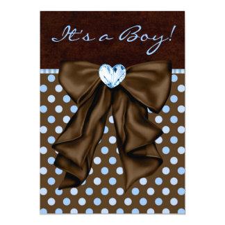 Azules cielos y fiesta de bienvenida al bebé de invitación 12,7 x 17,8 cm