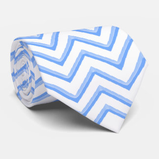 Azules claros adaptables de Chevron Corbata Personalizada
