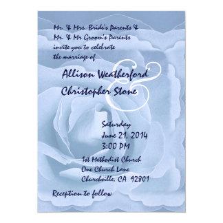 """Azules claros elegantes subiós casando la invitación 5.5"""" x 7.5"""""""