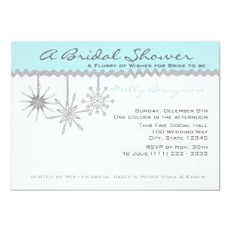 """Azules claros nupciales de la ducha del copo de invitación 5"""" x 7"""""""