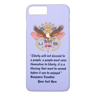 Azules claros patrióticos del bosque de la paz funda iPhone 7 plus