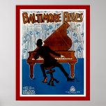 Azules de Baltimore Poster
