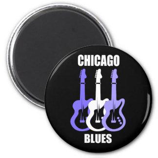 Azules de Chicago Imán Redondo 5 Cm