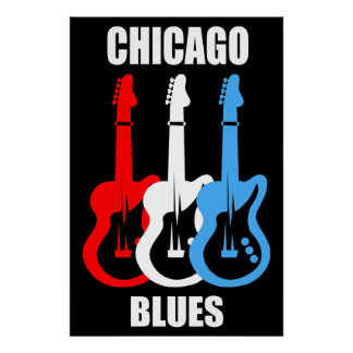 Azules de Chicago Posters