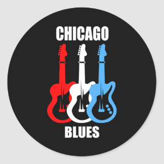 Azules de Chicago Pegatina Redonda