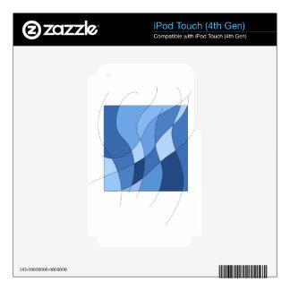 Azules de cielo - diseño de moda y simple elegante skins para iPod touch 4G