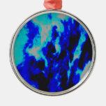 Azules de cielo ornamento para arbol de navidad