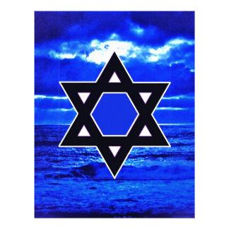 Azules de Judaicas Plantilla De Membrete