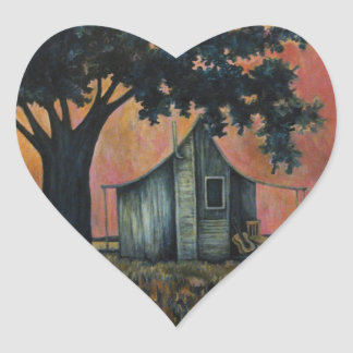 Azules de la anciano de caja, con la guitarra pegatina en forma de corazón
