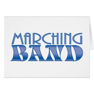 Azules de la banda tarjeta de felicitación