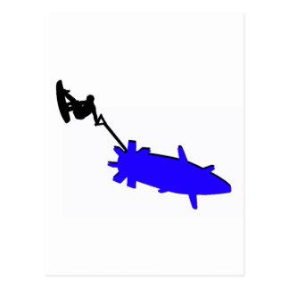 Azules de la bomba de Wakeboard Tarjeta Postal