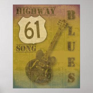 Azules de la carretera 61 póster
