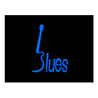 Azules de la guitarra tarjeta postal