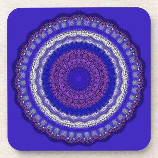 Azules de la mandala posavasos de bebida