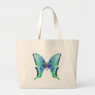 Azules de la mariposa bolsa tela grande