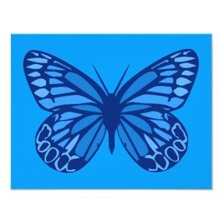 Azules de la mariposa invitación 10,8 x 13,9 cm
