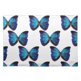 Azules de la mariposa mantel