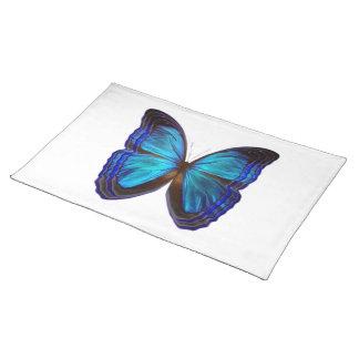 Azules de la mariposa manteles