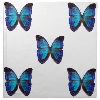 Azules de la mariposa servilleta