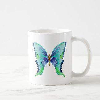 Azules de la mariposa taza de café