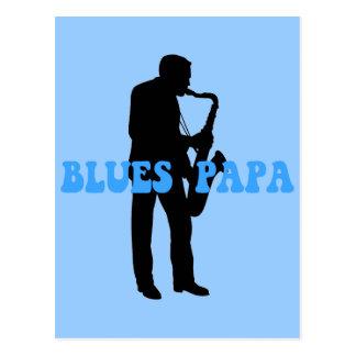 Azules de la papá de los azules postal