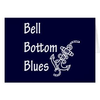 Azules de la parte inferior de Bell Tarjeta De Felicitación