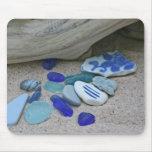 Azules de la playa alfombrilla de ratones