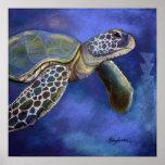 Azules de la tortuga posters