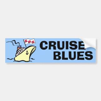 Azules de la travesía - esplendor del carnaval pegatina para auto